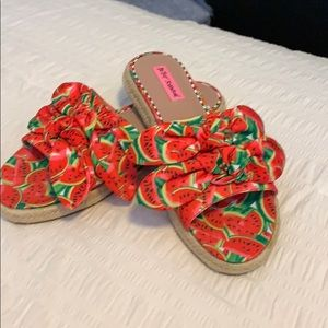 Betsey Johnson watermelon sandals